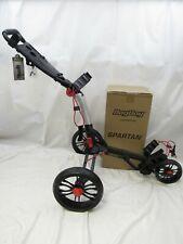 New 2020 Bag Boy Spartan Push Pull Golf Cart Bag Carrier BagBoy - Black Red