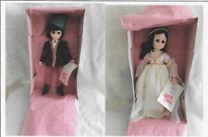 """Madame Alexander ROMEO & JULIET 12"""" DOLLS #1360 & #1370 NEW with tag and boxes."""