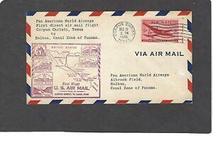 1946 FIRST FLIGHT CORPUS CHRISTI,TX to BALBOA,CZ DEC 16-46 FAM 5-PAN AM AIRWAYS