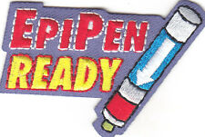"""EPI PEN READY"" PATCH -Iron On Embroidered Patch/Nurse, First Aid, Emergency"