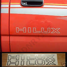2x Toyota Hilux door decal/sticker, pickup truck 4x4