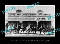 OLD LARGE HISTORIC PHOTO KINGSCOTE KI SOUTH AUSTRALIA THE HEMER BAKERY c1908