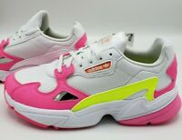 Adidas Falcon EE4405 Shop Pink Neon Yellow White Sneakers Women's Size 9