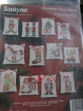 JANLYNN CHRISTMAS CROSS STITCH KIT SANTA SPECIAL FRIENDS #14-14 SET OF 12 NOEL