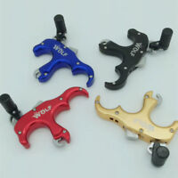4 Finger War Wolf Archery Kit Quick Release Aid For Compound Recurve Bow steel