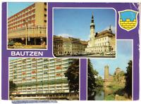 Vintage Postcard Bautzen Budysin Poland Cafe Marketplace 1985  K2