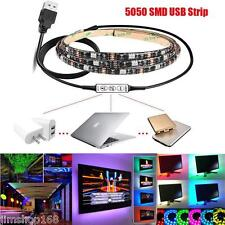 200cm Multicolor RGB TIRA DE LUCES LED USB CABLE LED TV fondo Kit de iluminación