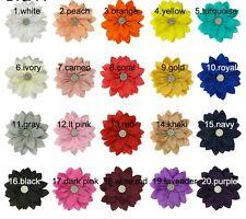HAARBLUME Chiffon 8cm- 20 Farben zur Wahl-Ansteckblume Haarblüte Krokodilspange