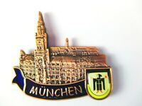 Magnet Metall München Rathaus Marienplatz,Souvenir Germany,Neu