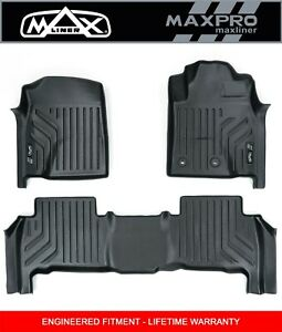 MaxPro Floor Mats 3D Nissan Patrol Y62 Wagon Series 4 and 5 - 1st and 2nd Rows