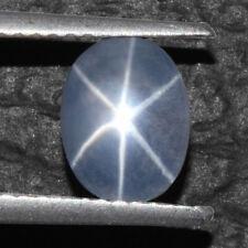 1.93 Cts Natural 6 Rays Sharp Blue Star Sapphire Unheated Oval Cab 8x6 mm Burma