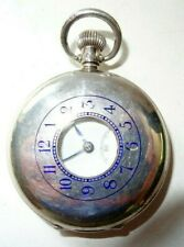 Solid silver half hunter, pocket watch, Goldsmiths & Silversmiths Birm 1950