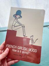 "SHINZI KATOH French Girlish Mood w/ Cat Medium Size Lined Paper 8"" Journal NEW!"