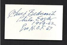 Chuck Bednarik Signed 3x5 card-Football Philadelphia Eagles-Inscription D-2015