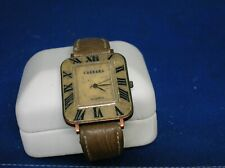 Unisex Watch from Ceasars Casino in Atlantic City, N.J. brown band, square face