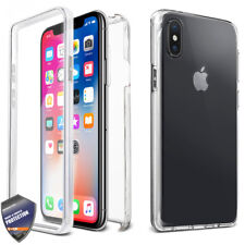 For APPLE iPhone X Full Body Built-in Shock Resistant TPU Case Screen Cover