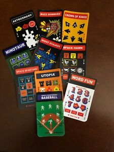 Indiv Original Flashback Overlays for Intellivision games from Mattel and INTV