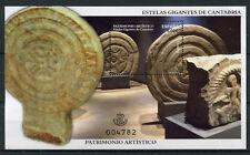 Spain 2017 MNH Estelas Gigantes de Cantabria Artistic Heritage 1v M/S Art Stamps