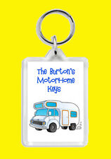 Personalised (WITH YOUR NAME) Motorhome Motor Home Van Keys Keyring New
