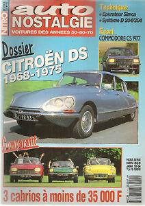 AUTO NOSTALGIE HS1 CITROEN DS 1968 1975 OPEL COMMODORE GS/E COUPE 1977 PANHARD