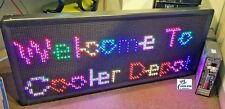 NEW LED Sign 7 Color Programmable Electronic Scrolling Outdoor Message Display