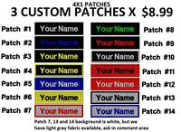 """**LOVE IT OR IT'S FREE** THREE PACK 4X1 Custom Embroidered NAME TAG """"Iron on"""""""
