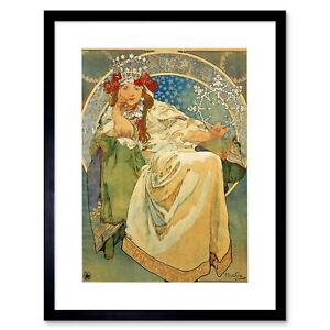 Mucha Princess Hyacinth 1911 Framed Wall Art Print 12X16 In