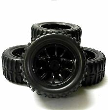 Hs211114bk 1/10 Escala Off Road Monster Truck Rc Ruedas y neumáticos Negro 10 habló