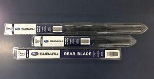 2010-2014 Subaru Outback Front & Rear Windshield Wiper Full Blade Set Genuine OE