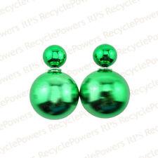 Orecchini di bigiotteria bottoni farfalline verde