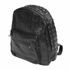 1X(Backpack Bag Rivet PU Skull Womens Black Women Girl Y8V3) U01