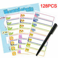 128PCS Kids School Name Labels Tapes Tags Stickers Waterproof Tapes For Clothes