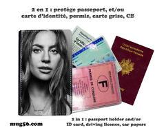 lady gaga 004 protège carte grise permis passeport passport cover
