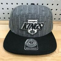 Los Angeles Kings NHL Hockey '47 Brand Snapback Grey Pinstripe 5 Panel Style Hat