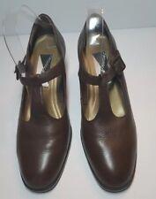 Vintage Mootsies Tootsies Blondie Mary Jane Leather Chunky Heels Brown Size 9.5M