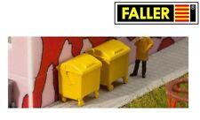 FALLER HO scale ~ RUBBISH BINS ~ PLASTIC MODEL KITSET #180913 suit model train