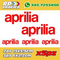 KIT 5 ADESIVI APRILIA RACING sticker MOTO VARI COLORI