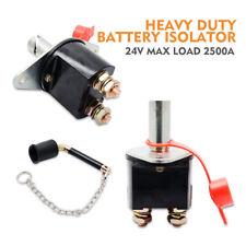 Battery Isolator Switch Cut Off Metal Key Master Kill Switch Heavy Duty Truck24V