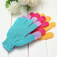 5Pcs Exfoliating Shower Skin Care Back Body Scrub Cleaning Bath Gloves Hu