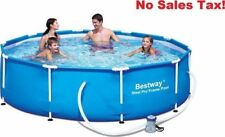 "Bestway 10' x 30"" Steel Pro Frame Above Ground Swimming Pool Set 