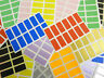25x12mm Rectangular Mixed Coloured Colour Sticky Labels Stickers - 10 Colours