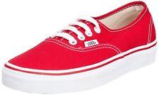 VANS Authentic Men/Women Sneakers Red  VN000EE3RED  Sz M5/W6.5 K