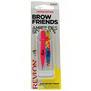 REVLON BROW FRIENDS SLANT & POINT TWEEZERS SET STYLE 63805 HAIR REMOVAL MAKEUP