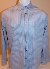 Paul Smith London Mens 41/16 Blue Checked Shirt Made In Italy