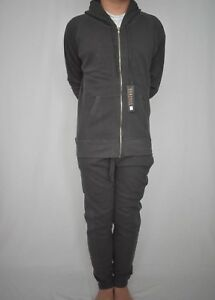 Ladies Women's Grey Gunmetal Full Zip Hoody jogging suit Tracksuit GymWear Relax