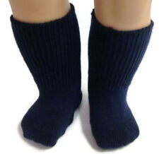 "Navy Knit Sport Socks made for 18"" American Girl Dolls Accessories"