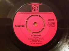 "DONOVAN COLOURS / TO SING FOR YOU 1965 VINTAGE POP FOLK 7"" VINYL SINGLE"