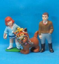 3 Figuren zusammen : Clementine + Katze + Mann Antenne A 2 Hachette SCHLEICH