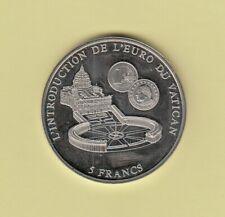 CONGO - 5 Francs 2002 - Introduction de l'euro au Vatican - UNC.
