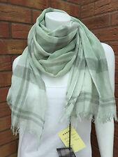 BARBOUR LILY GREEN SUMMER DRESS TARTAN WRAP/SCARF BNWT RETAIL £50